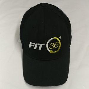 Fit36 black baseball cap, w/White-Green logo